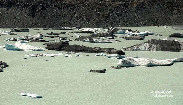 Llac Tasman amb troços de gel surant