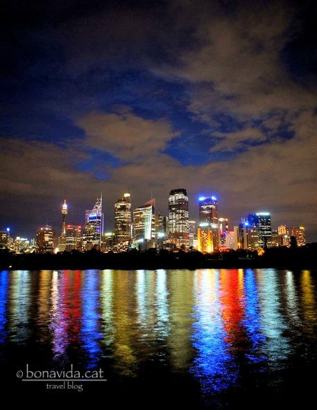 L'skyline de la ciutat a la nit