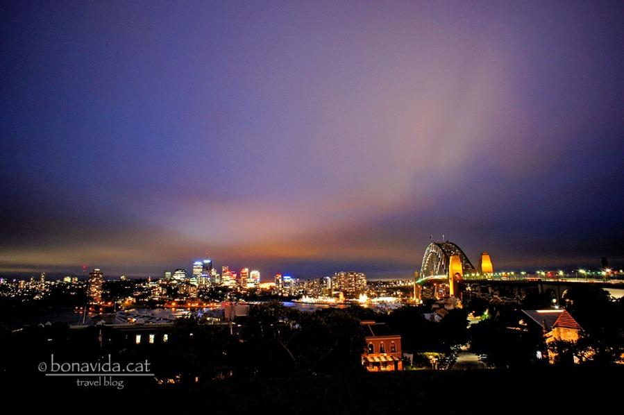 Vistes de Sydney a la nit