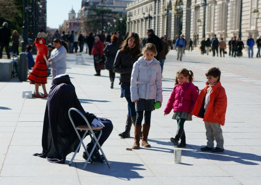La Plaza de Oriente és plena d'artistes
