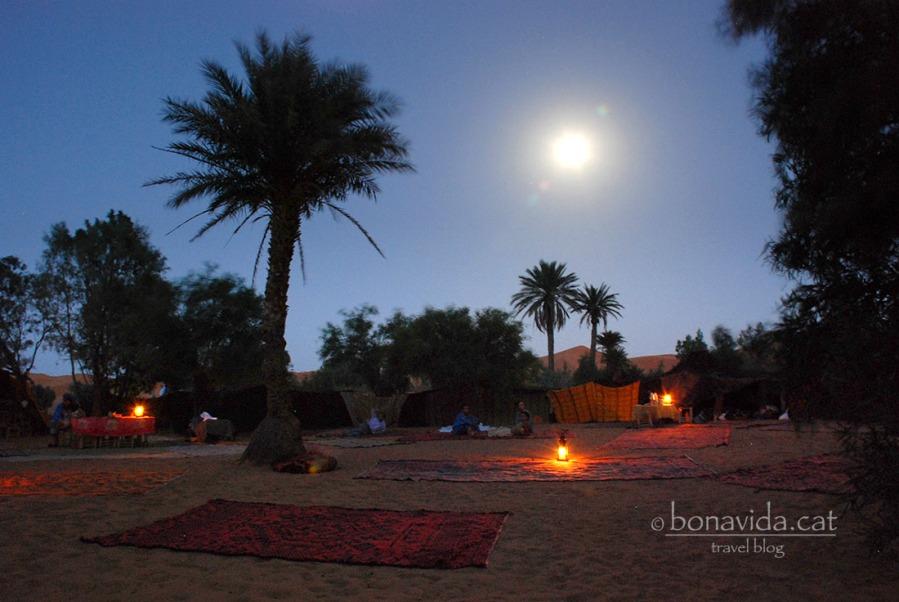 Campament sota la llum de la lluna