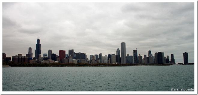 L'skyline de Chicago és inconfusible.