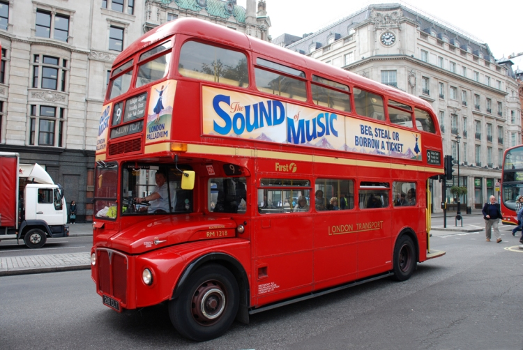 els famosos autobusos de dos pisos...
