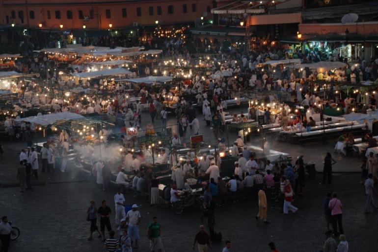 marroc jema el fna multitut