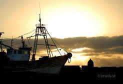 marroc essaouira vaixell al capvespre