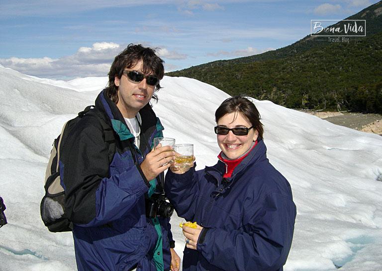 Un brindis al Perito Moreno!