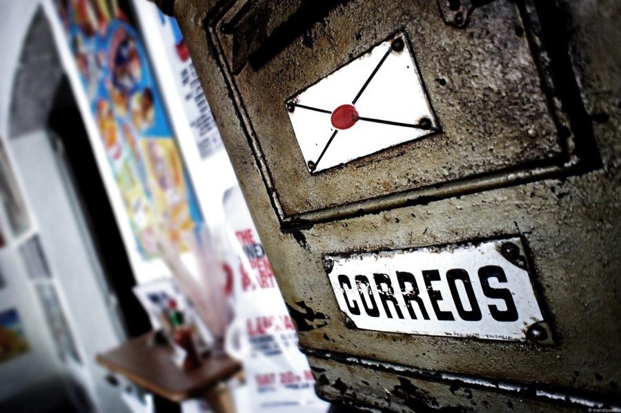 Bústia de correus al Bar Anita