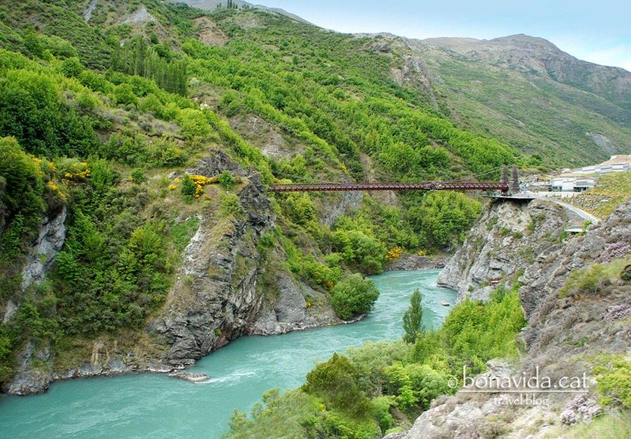 El mític Kawarau Bridge, on es va inventar el jumping