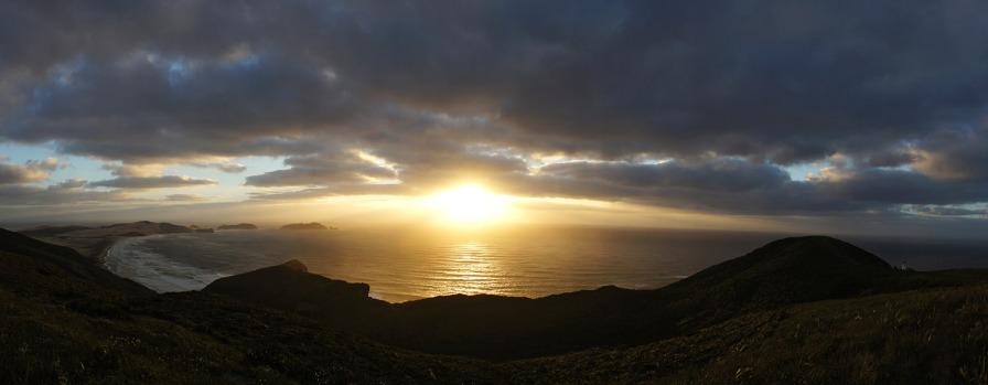 Posta de sol al punt més al nord de Nova Zelanda: Cape Reinga