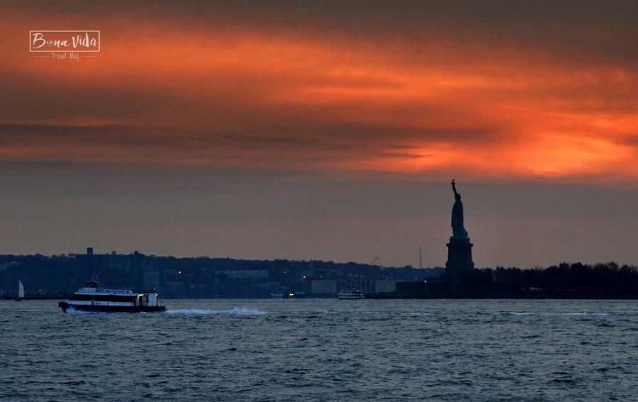 newyork missliberty sunset
