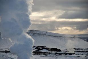 L'activitat geotermal és visible a tt el país