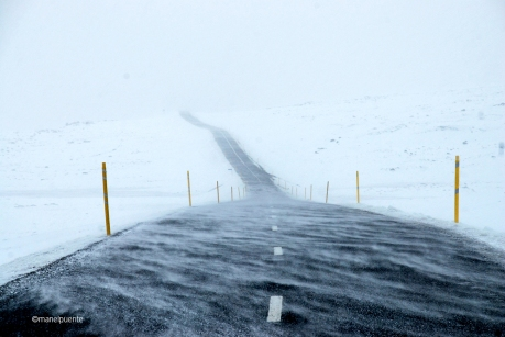 Tempesta de neu a la carretera 93