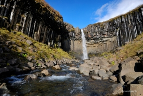 Cascada Svartifoss a Skaftafell. Parc Nacional Vatnajökull. Sud Islàndia