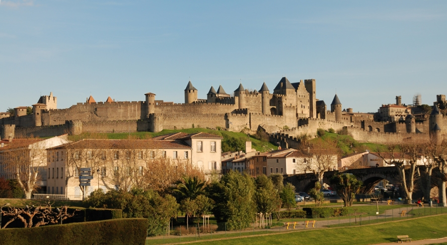 Castell Carcassonne i poble