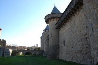 Castell Carcassonne muralles