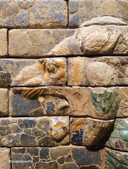 Detall dels animals que formen el relleu de la Porta d'Ishtar