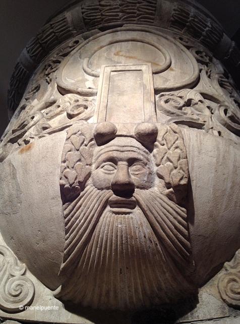 Detall d'una columna de marbre pertanyent al Bouleuterion