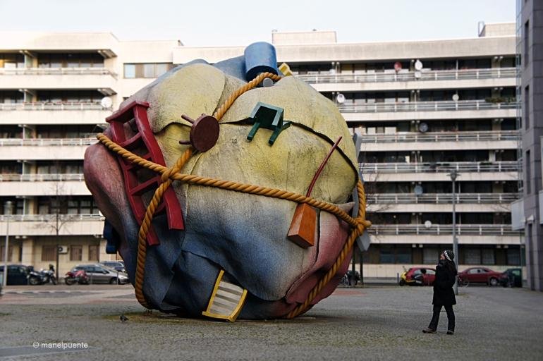 Escultura a Bethlehemkirchplatz, al costat del nostre hotel