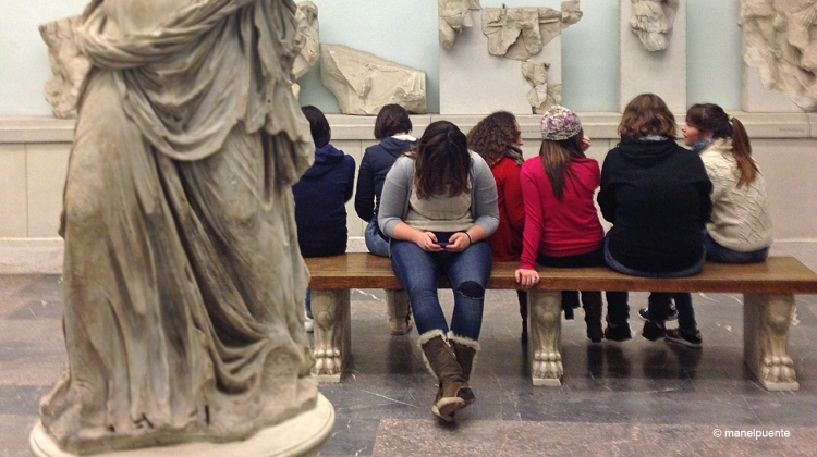 Estudiants alemanys visiten el museu