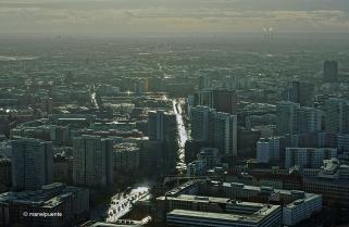 Vistes de Berlín des de la torre de televisió situada a Alexanderplatz