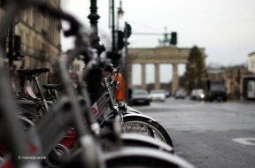 Ens va sorprendre, tot i el fred, la quantitat de bicicletes que fan servir els berlinesos