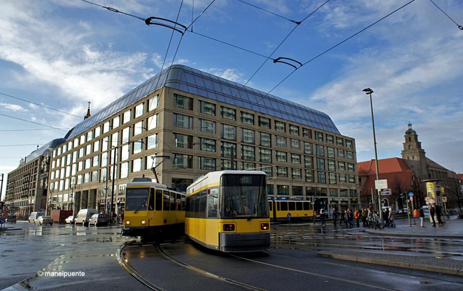 Els tramvies, que circulen per la part Est de Berlín, son una bona opció per desplaçar-se