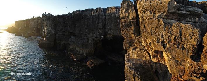 L'oceà Atlàntic impressiona des dels penyasegats de Boca do Inferno
