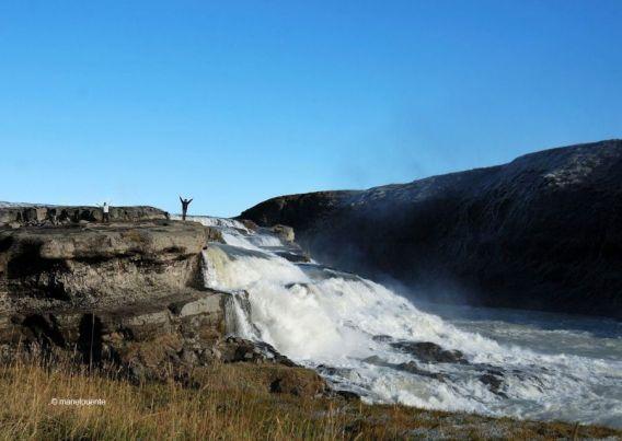 Sobre les Cascades Gullfoss. Islàndia