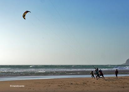 El kitesurf és molt practicat a la platja do Guincho
