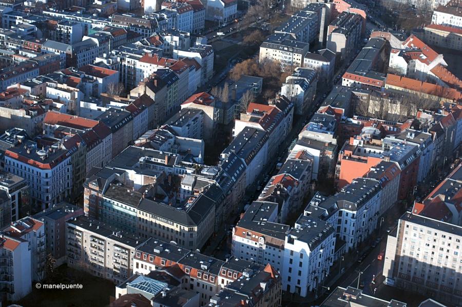 Els edificis i barris es veuen d'una altra manera des de més de 200 metres d'alçada