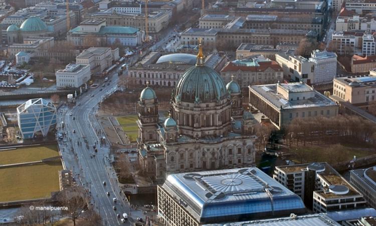 La Catedral o Berliner Dom, encara sembla més imponent des de les alçades