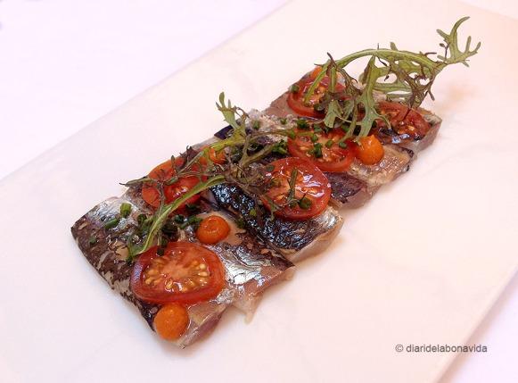 Sardines marinades amb tomàquet