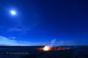 Sembla de dia, però és la lluna plena la que il.lumina el cel