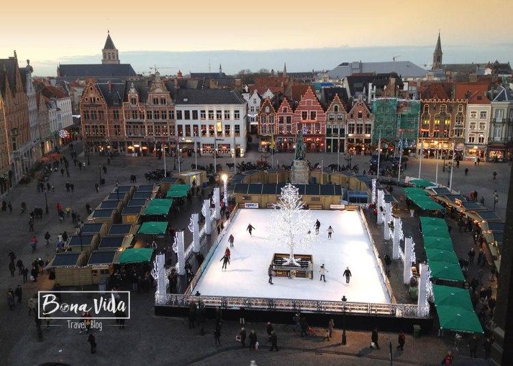 belgica bruges mercat nadal pista gel