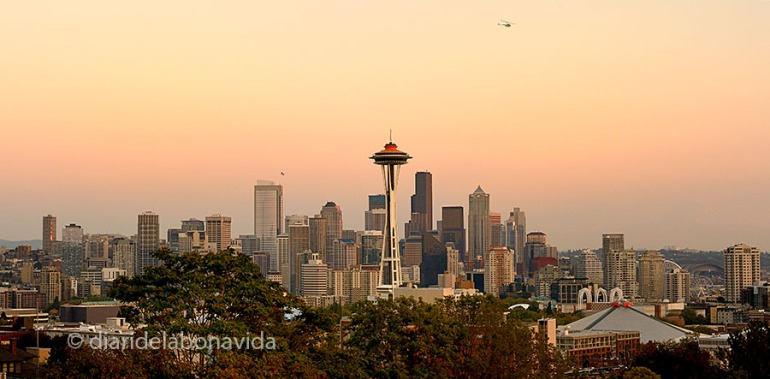 Seattle, i la seva famosa torre Space Needle