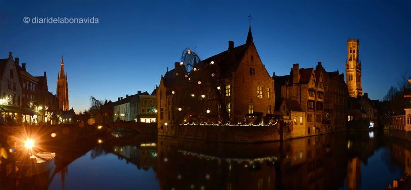 La famosa postal de Bruges