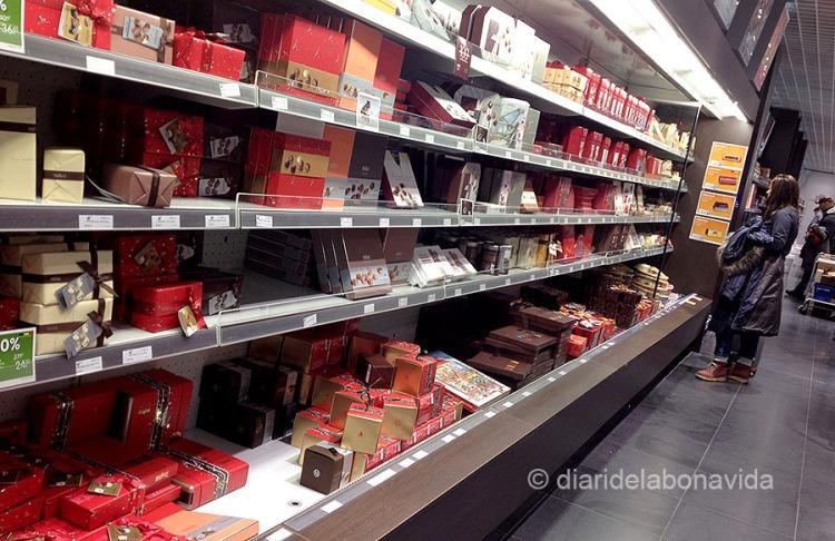 L'aeroport és el primer i últim lloc on podrem comprar xocolata