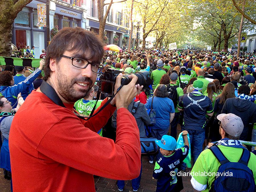 Fotografiant la festa del futbol