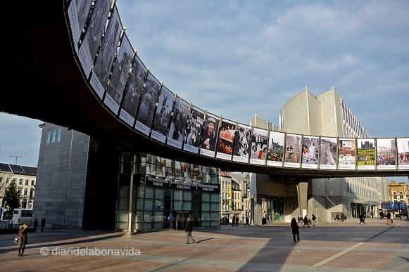 L'Àgora connecta el Centre de Visitants, el Parlament i la Plaça Luxemburg