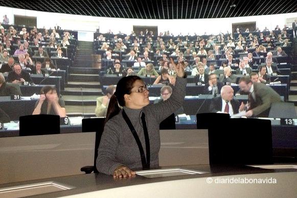 Podem sentir.nos diputats europeus dins les exposicions del Centre de Visitants
