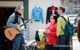 Turistes i músics