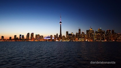 Skyline nocturn de Toronto