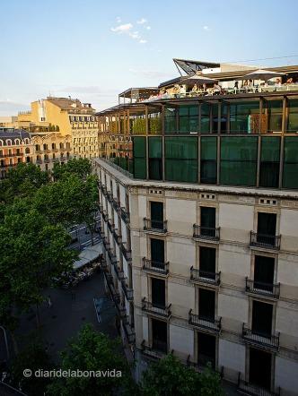 Hotel Condes de Barcelona i la seva terrassa Alaire