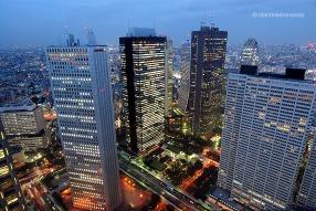 Vistes ciutat de Tòquio des de l'observatori edifici govern