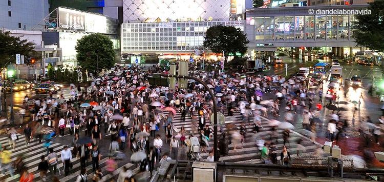 La famosa cruilla de Shibuya, Tòquio