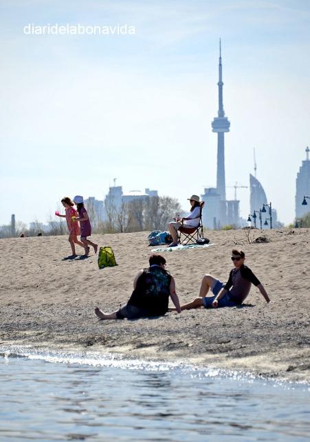 Descansant amb l'omnipresent CN Tower al fons