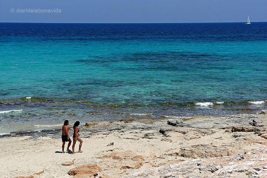 La platja de Llevant, sempre més tranquil·la...
