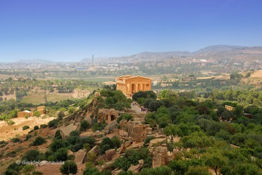 Temple de la Concordia al Valle dei Templi a Agrigento.