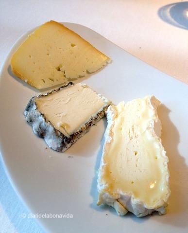Selecció de formatges. El millor és que la fan al teu gust, segons quin tipus de formatge t'agradi més.