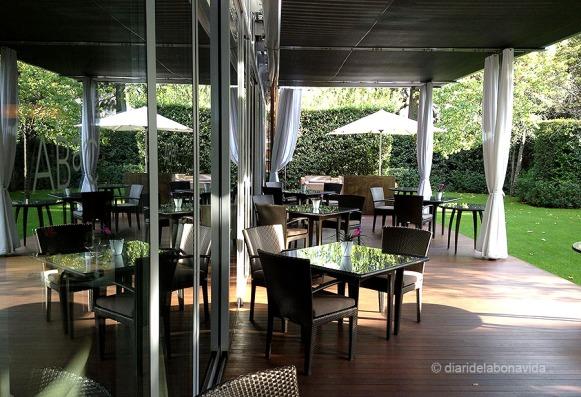 Terrassa del restaurant.